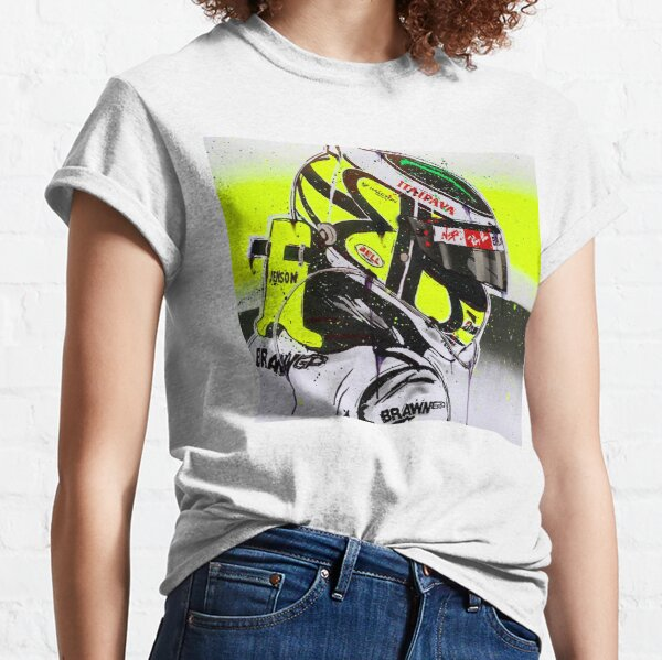 Jenson Button - Brawn GP F1 graffiti painting by DRAutoArt Classic T-Shirt