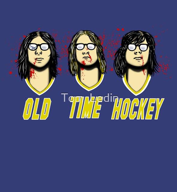 Old Time Hockey by Tom  Ledin