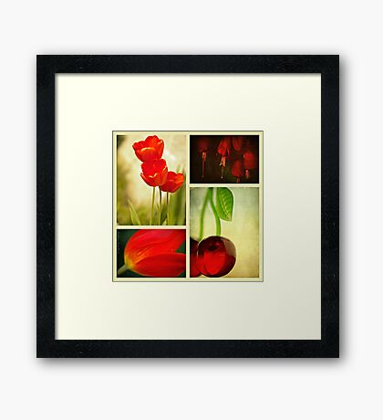 Nature in Red Framed Print