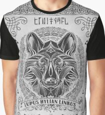 Legend of Zelda Twilight Princess Wolf Link Line Artly  Graphic T-Shirt