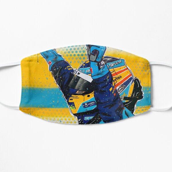 Fernando Alonso - Renault graffiti painting by DRAutoArt Flat Mask