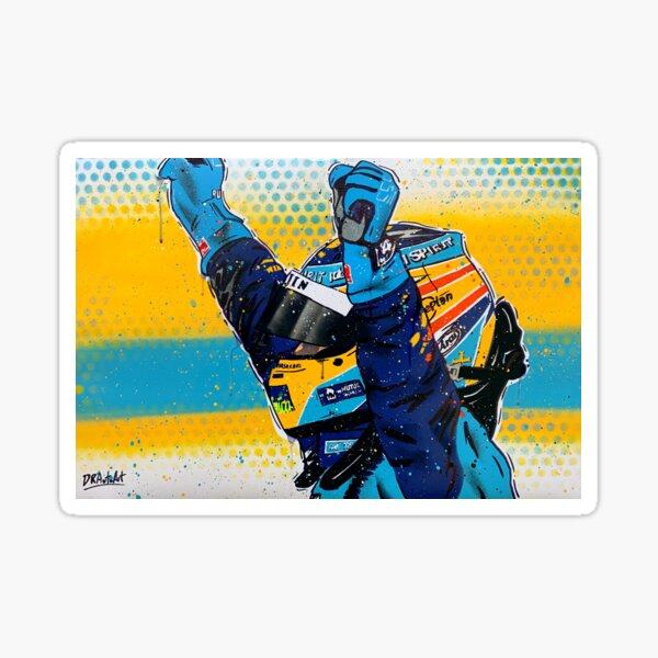 Fernando Alonso - Renault graffiti pintura por DRAutoArt Pegatina