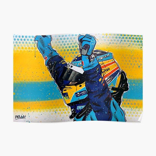 Fernando Alonso - Renault graffiti painting by DRAutoArt Poster