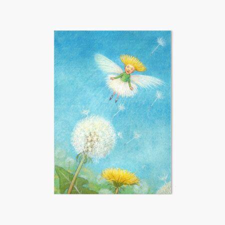 Tix - cute little dandelion-pixie Art Board Print