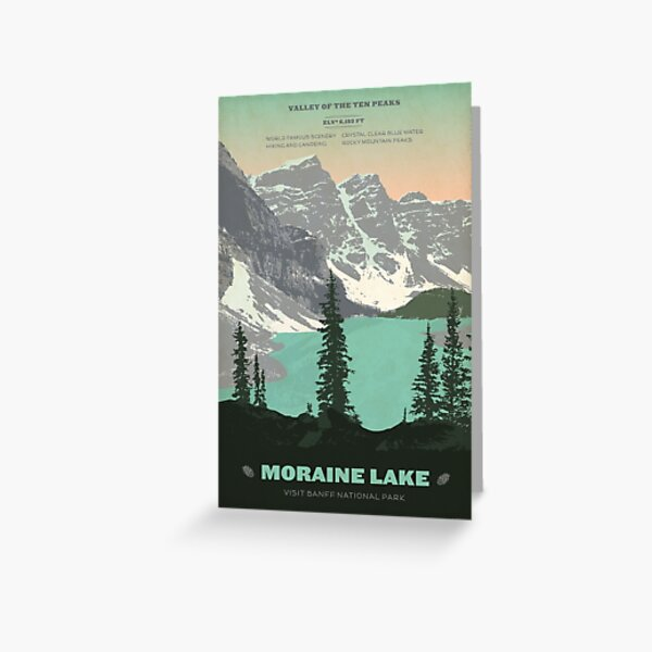 Moraine Lake poster Greeting Card