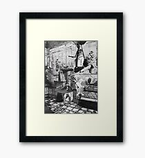 Thief of Pompeii. Framed Print