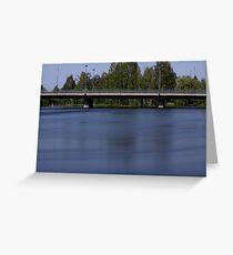 Bridge and a river Greeting Card