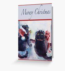 """Meowy Christmas"" Greeting Card"