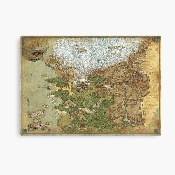 The Lands of Termina - Giclée Map Canvas Print