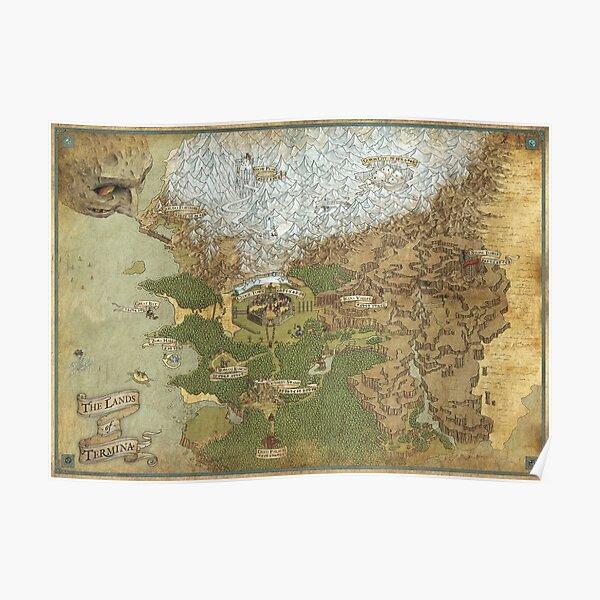 Carte des Pays de Termina - Giclée Poster