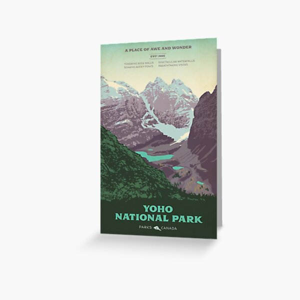 Yoho National Park poster Greeting Card