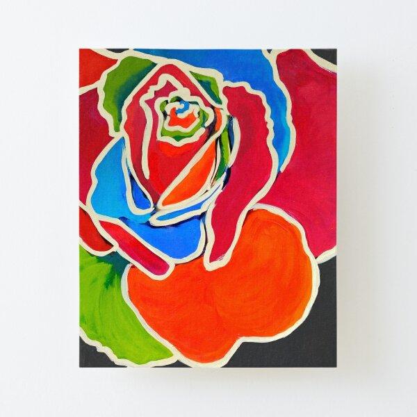 Rose No. 2 Aufgezogener Druck auf Leinwandkarton