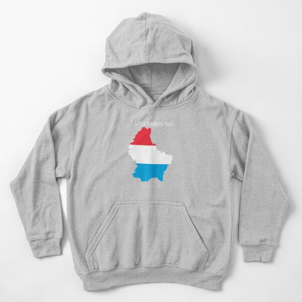 Luxembourg Map Flag Kids Pullover Hoodie