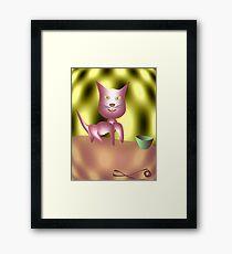 Magic Cat Framed Print