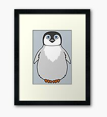 Natural Grey Baby Penguin Framed Print
