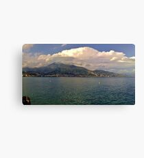 Menton and The Alps Canvas Print