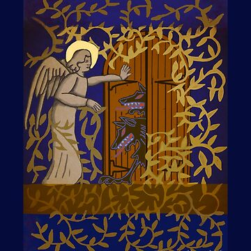 Angel at the Door - Royal Blue Version by Donnahuntriss