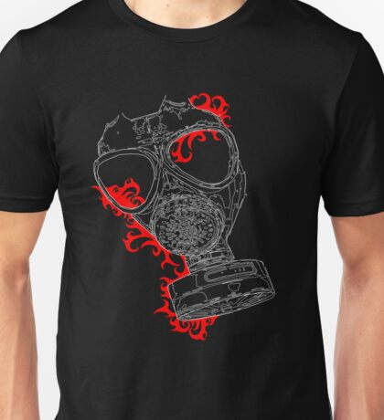 gas mask red T-Shirt