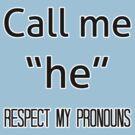 He/him pronouns by dapperli
