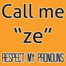 Ze/zir prounouns by dapperli