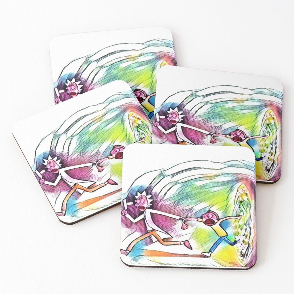 Watercolor Portal Artwork Coasters (Set of 4)