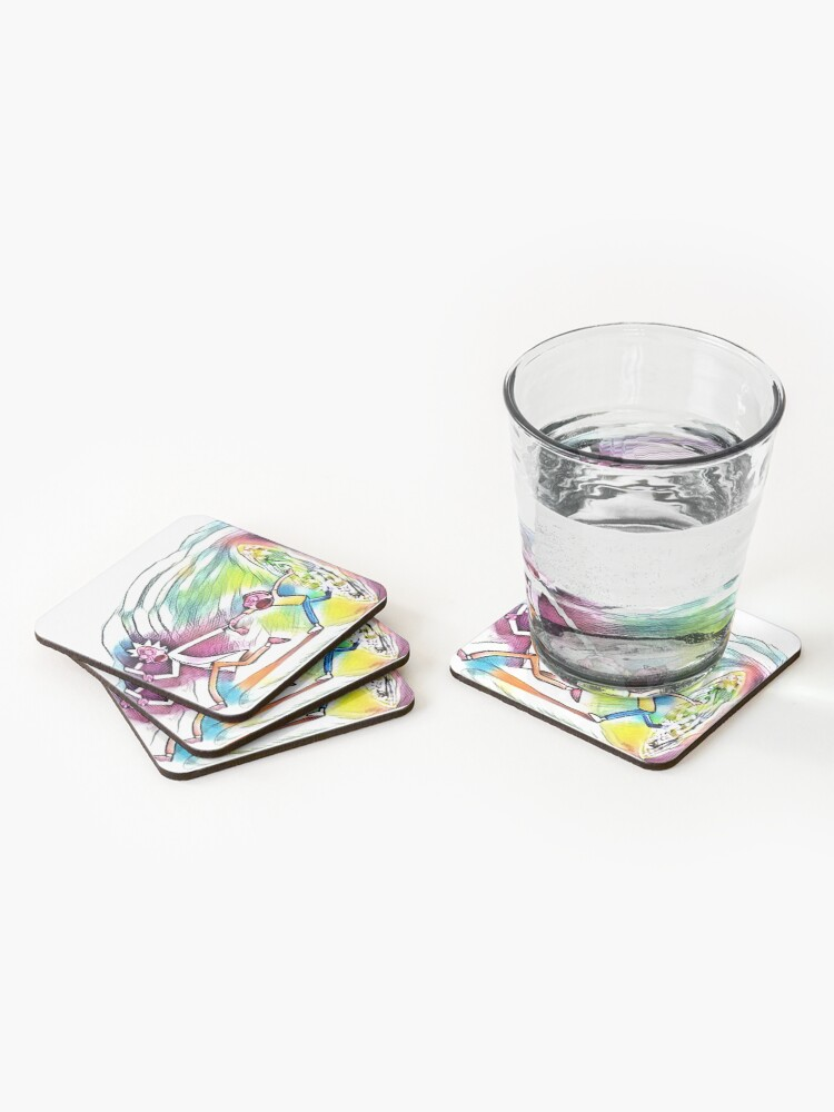 Alternate view of Watercolor Portal Artwork Coasters (Set of 4)