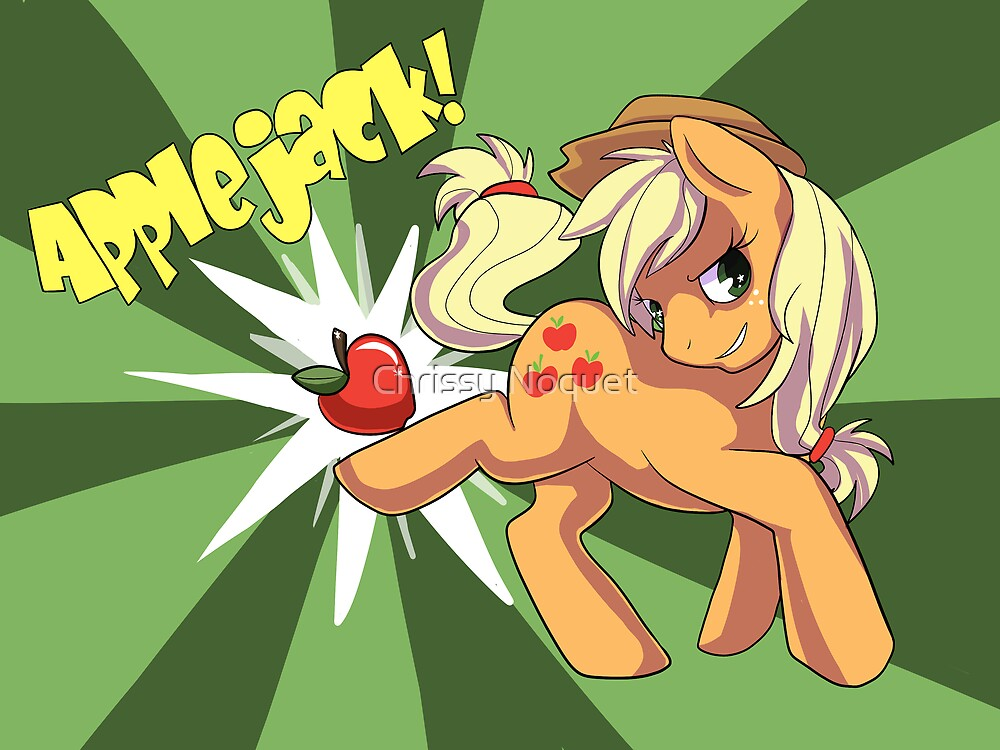 Applebuckin' Applejack by Chrissy Noquet