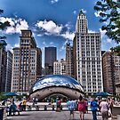Buildings and a Bean by Adam Northam