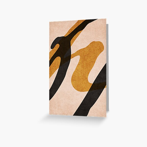 ABSTRACT ALPHABET / Script P Greeting Card
