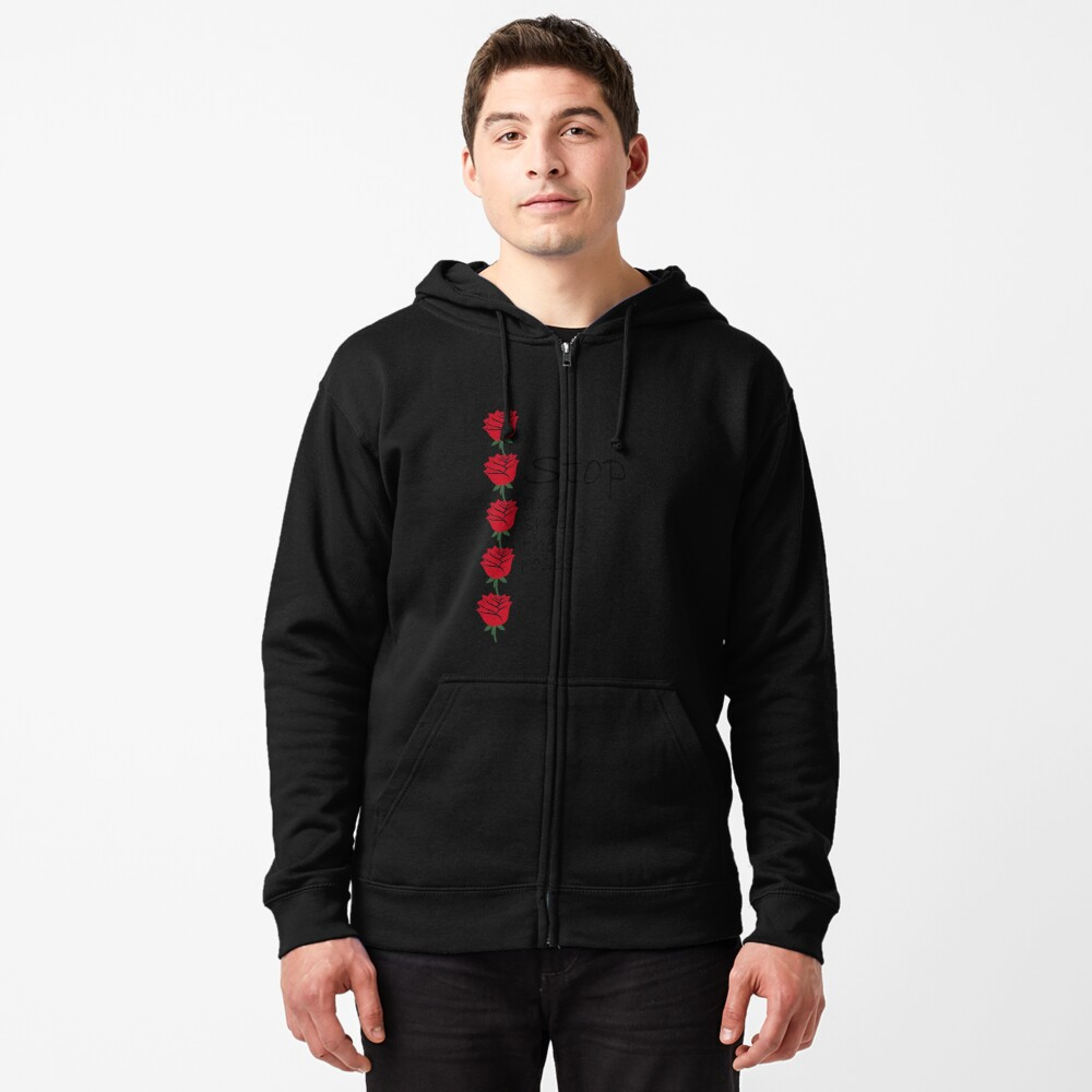 Stop and Smell the Roses Zipped Hoodie