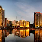 Golden Docklands by Robyn Lakeman