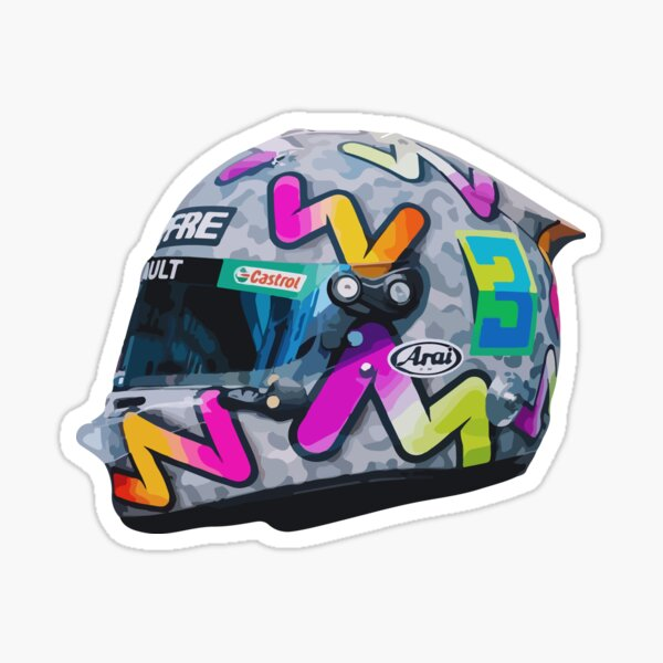 Casco Daniel Ricciardo 2020 F1 Pegatina