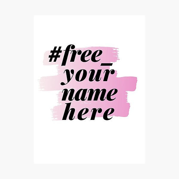#free_yournamehere mauve Photographic Print