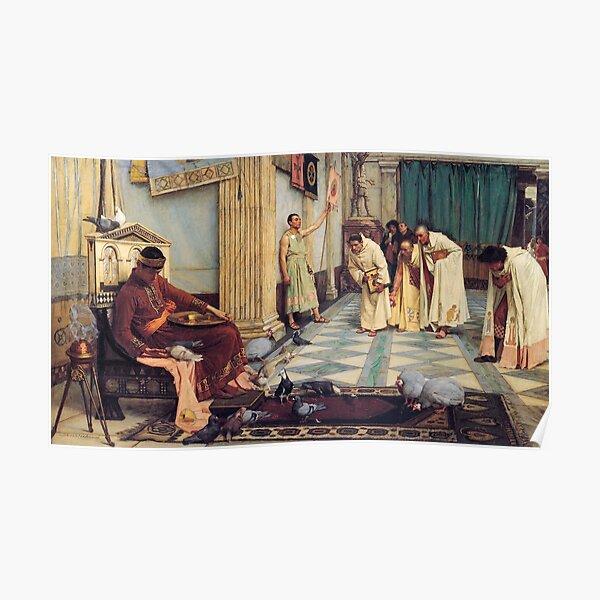 The Favourites of the Emperor Honorius - John William Waterhouse Poster