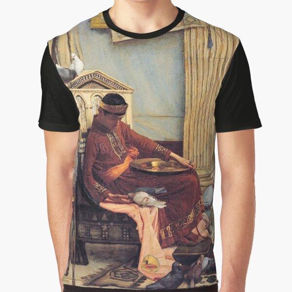 The Favourites of the Emperor Honorius - John William Waterhouse Graphic T-Shirt