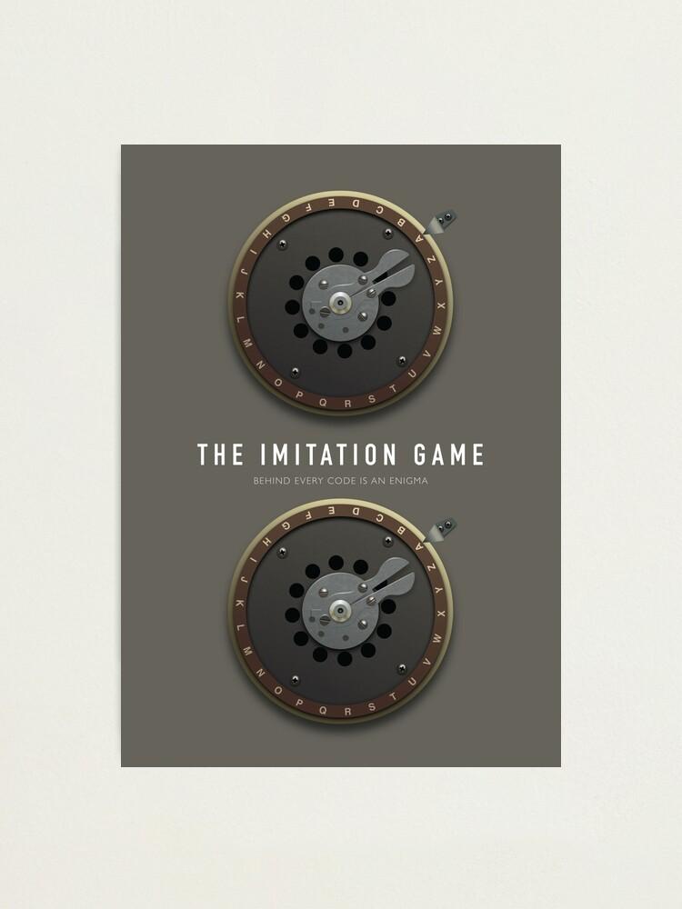 Alternate view of The Imitation Game - Alternative Movie Poster Photographic Print