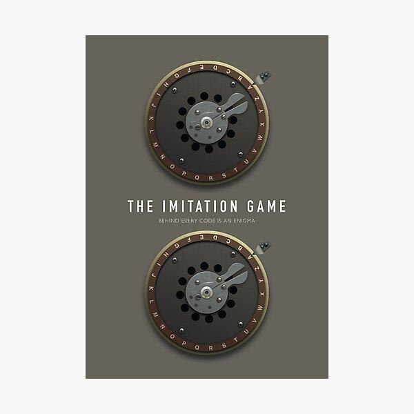 The Imitation Game - Alternative Movie Poster Photographic Print