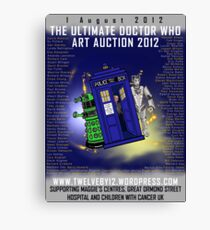 The Ultimate Dr Who Art Auction 2012 by Twelveby12 Canvas Print