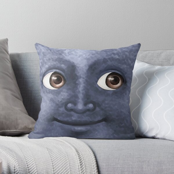 Black Moon Emoji Throw Pillow
