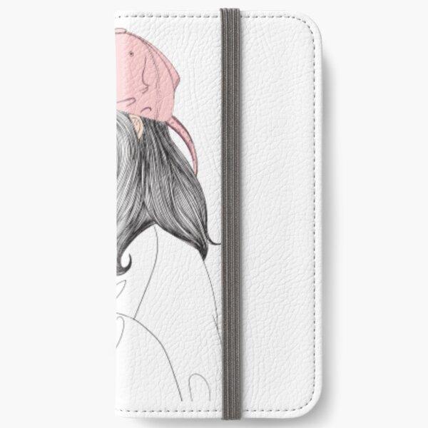 Girl portrait print iPhone Wallet