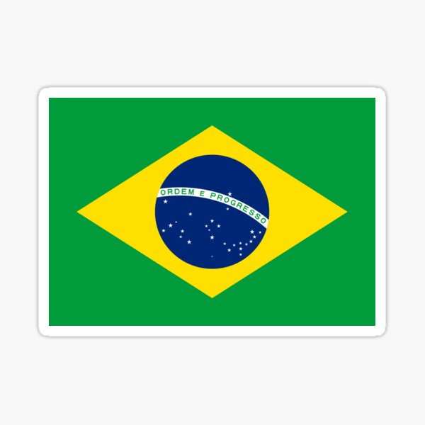 Brazil Flag - Brazilian T-Shirt Sticker