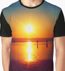 Golden Sunshine Surf and Sand Graphic T-Shirt