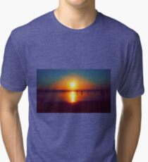 Golden Sunshine Surf and Sand Tri-blend T-Shirt