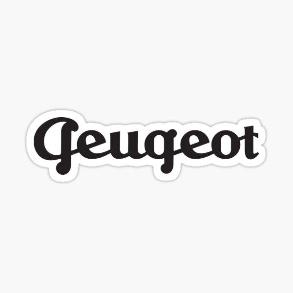 Emblema Peugeot vintage - automóvil, bicicleta retro y Tour de Francia - impresión en negro Pegatina