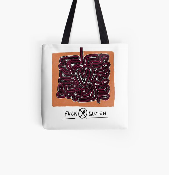 Gluten Free AF Coeliac Gift Gluten Free Bag Tiger Print Gluten Free As Fuck Canvas Black Tote Bag Animal Print Gluten Free Gift