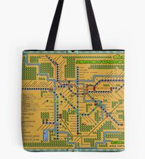 São Paulo City Metropolitan Transportation Map (Print Version) Tote Bag