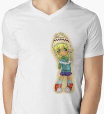 Cute Chibi Men's V-Neck T-Shirt