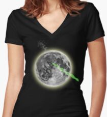 CHA....(if you remember this you are awesome) Women's Fitted V-Neck T-Shirt
