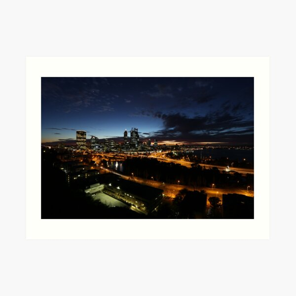 Perth City at Dawn Art Print