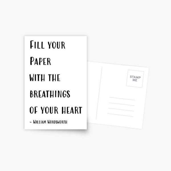 Wordsworth Quote Postcard